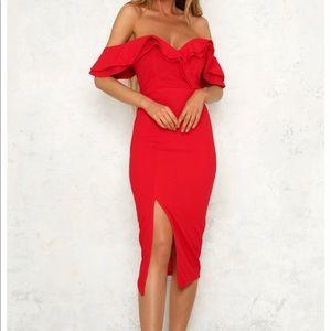 Hello Molly Tokyo Rose Midi Dress